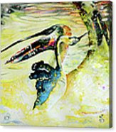 Birds Love Dance Acrylic Print