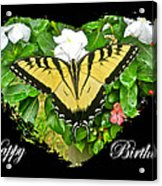 Birthday Greeting Card - Tiger Swallowtail Butterfly Acrylic Print