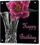 Birthday Vase Acrylic Print