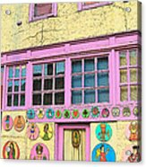 Colorful Building Bisbee Az Acrylic Print