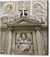 Bishop Sculpture In Cordoba Cathedral Acrylic Print