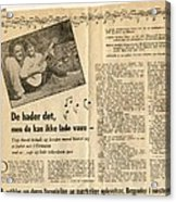 Bits From Danish Article From The Fifties Acrylic Print