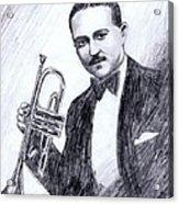 Bix Beiderbecke 1929 Acrylic Print by Mel Thompson