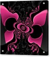 Black And Pink Fractal Butterfly Acrylic Print