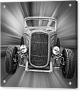 Black And White 32 Ford Acrylic Print by Steve McKinzie