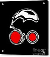 Black And White And Red Abstract Art No.205. Acrylic Print