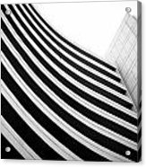 Black And White Building Curve Shape  Acrylic Print