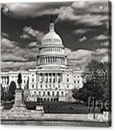Black And White Capitol Acrylic Print