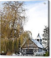 Black And White Church  Melverley Acrylic Print