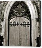 Black And White Doorway Acrylic Print
