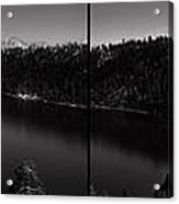Black And White Emerald Bay Panorama Acrylic Print