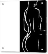 Black And White Erotic Acrylic Print