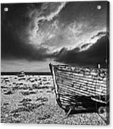 Black And White In Dungeness Acrylic Print