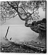 Black And White Mystic Lake Acrylic Print