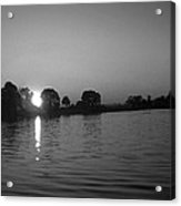 Black And White Of Sunset On Walter Wirth Lake Acrylic Print