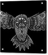 Black And White Owl Acrylic Print