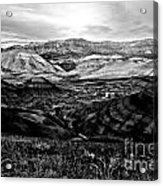 Black And White Painted Hills Acrylic Print