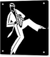 Black And White Saxophone Acrylic Print