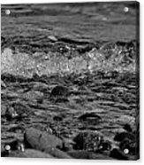 Black And White Shore Acrylic Print