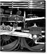 Black And White Steam Engine - Greeting Card Acrylic Print
