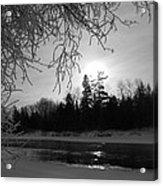 Black And White Sunrise Acrylic Print