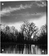 Black And White Sunrise Over Water Acrylic Print by James BO  Insogna