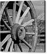 Black And White Wagon Wheel Acrylic Print