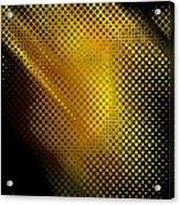 Black And Yellow Abstract II Acrylic Print