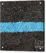 Black Blue Lawn Acrylic Print