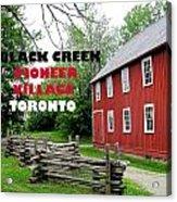 Black Creek Poster Acrylic Print