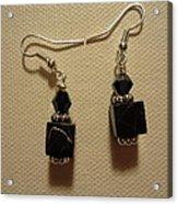Black Cube Drop Earrings Acrylic Print
