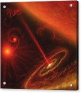 Black Hole & Red Giant Star Acrylic Print