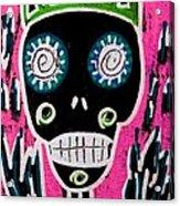 Black King Sugar Skull Angel Acrylic Print