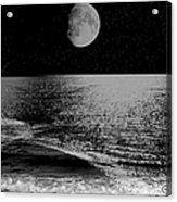 Black Night At The Shore Acrylic Print