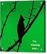 Black  On Green Acrylic Print