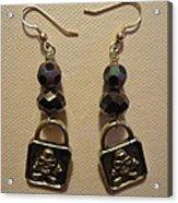 Black Pirate Earrings Acrylic Print by Jenna Green