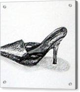 Black Shoe Acrylic Print