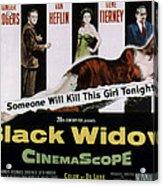 Black Widow, Ginger Rogers, Van Heflin Acrylic Print by Everett