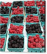 Blackberries And Rasberries - 5d17827 Acrylic Print by Wingsdomain Art and Photography