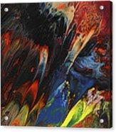 Blackbird Rainbow Blitz Acrylic Print
