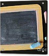 Blackboard Chalk Acrylic Print by Carlos Caetano