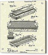 Blackboard Eraser 1893 Patent Art Acrylic Print