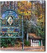 Blacksmith Shop Acrylic Print by Debra and Dave Vanderlaan