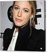 Blake Lively At Arrivals For You Know Acrylic Print