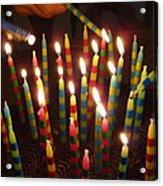Blazing Amazing Birthday Candles Acrylic Print