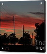 Blazing Red Country Road Sunset Acrylic Print