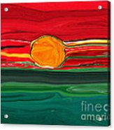 Blazing Red Sky Acrylic Print