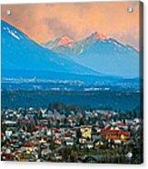 Bled City And Breg. Slovenia Acrylic Print
