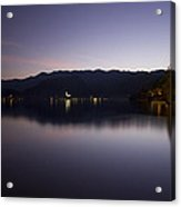 Bled Lake At Dusk Acrylic Print