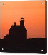 Block Island North West Lighthouse Sunset Acrylic Print